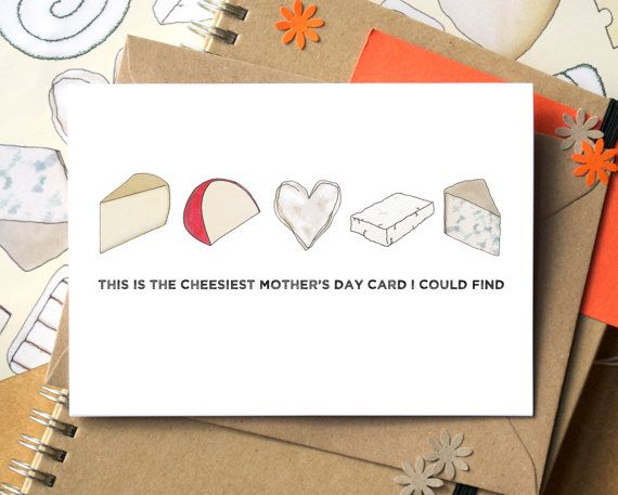 To Mum From Daughter Mother/'s Day Card Funny Say Cheese Greeting Cards