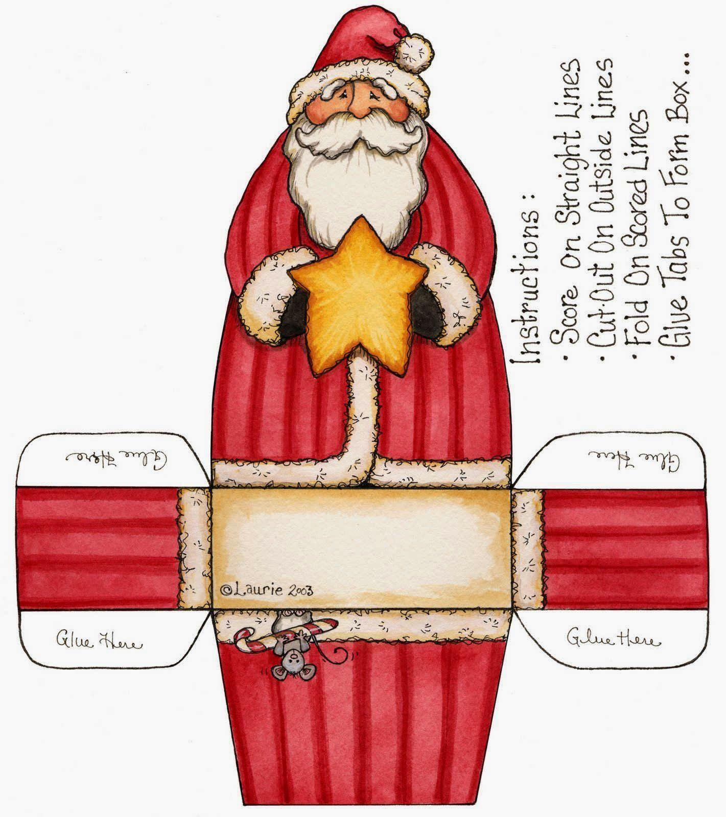 Cajas de Santa Claus para Imprimir Gratis. | Christmas - Printables ...