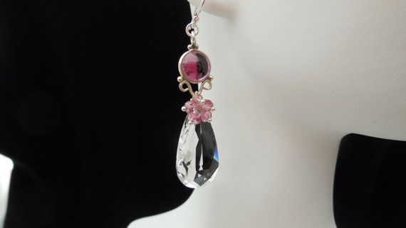 Fairylike Princess Swarovski Crystal Drop in by RiRiJewelrybyNaoko