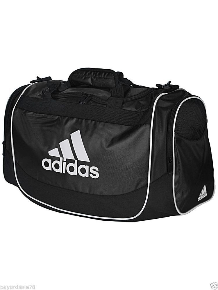 MEN S   WOMEN S ADIDAS SMALL BLACK DEFENDER DUFFEL BAG DUFFLE SCHOOL SPORTS  GYM  adidas  DuffleGymBag f4a18bd89cec1