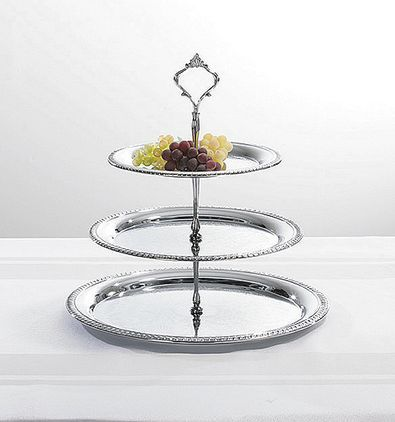 3 Tier Chrome Plated Serving Tray The Teapot Shoppe Inc Tea Tray English Tea Store Three Tier Tray