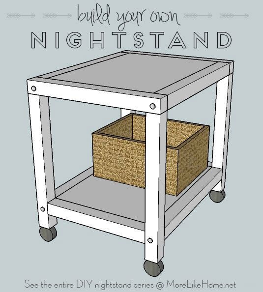 Rolling Cart Nightstand By More Like Home Furniture Plans Diy Nightstand Rolling Cart