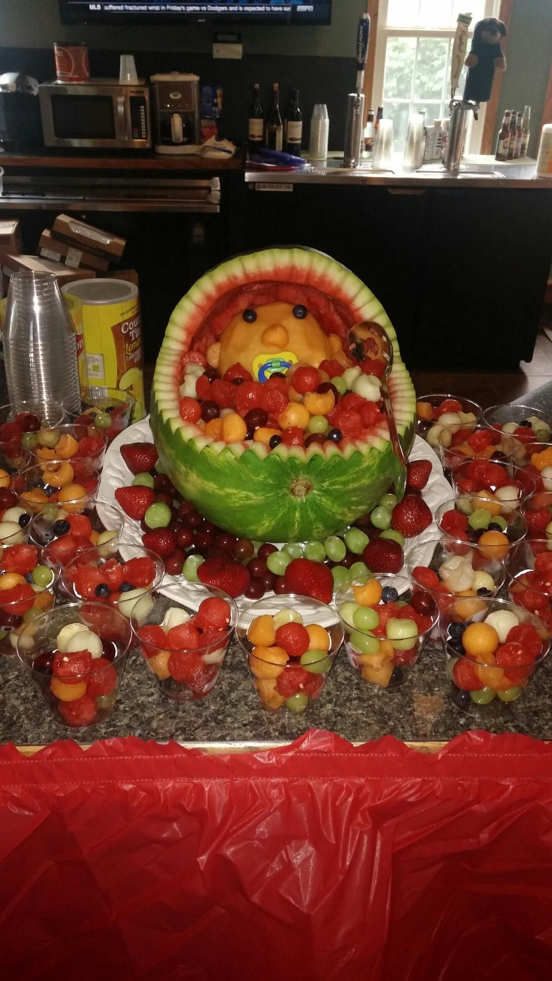 Fruit Station For A Baby Shower Baby Shower Fruit Tailgate Party