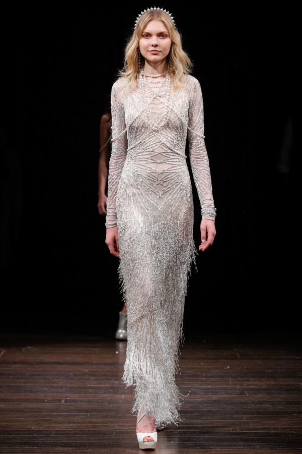 b8b052c2bf3bd Fall in love again with Naeem Khan s spring 2018 bridal week collection!  http