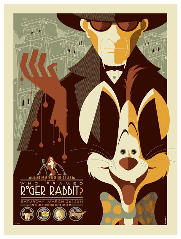 Affiche Roger Rabbit retro movie posters | illustrations/graphic design/typography