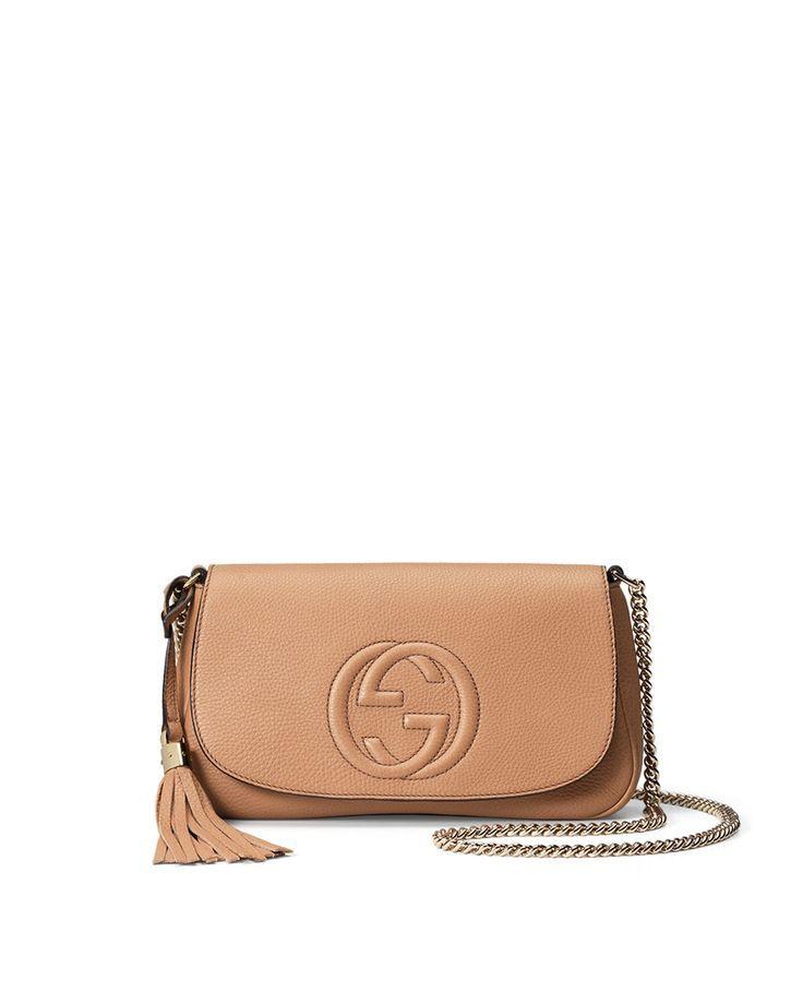 Gucci Soho Medium Crossbody Bag Beige