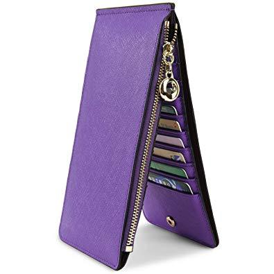YALUXE Women\/'s Small Genuine Leather BiFold Wallet Multi Card Organizer w