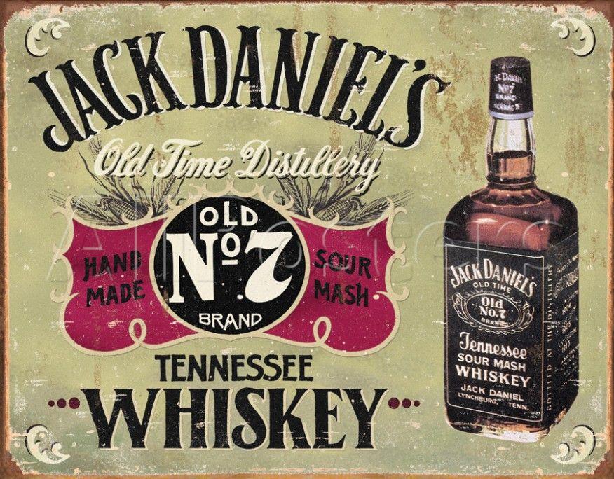 Metal Tin Sign jack daniel's' Decor Bar Pub Home Vintage Retro Poster Cafe ART