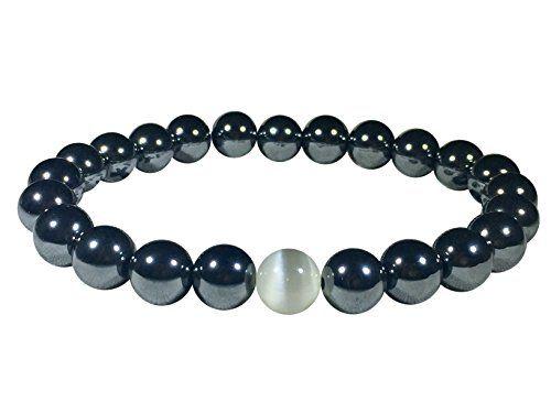 Medium Mens Bracelet – Semi-Precious GREY Hematite Stones(8mm) Beads – Handmade – Vibes San Francisco  http://stylexotic.com/medium-mens-bracelet-semi-precious-grey-hematite-stones8mm-beads-handmade-vibes-san-francisco/