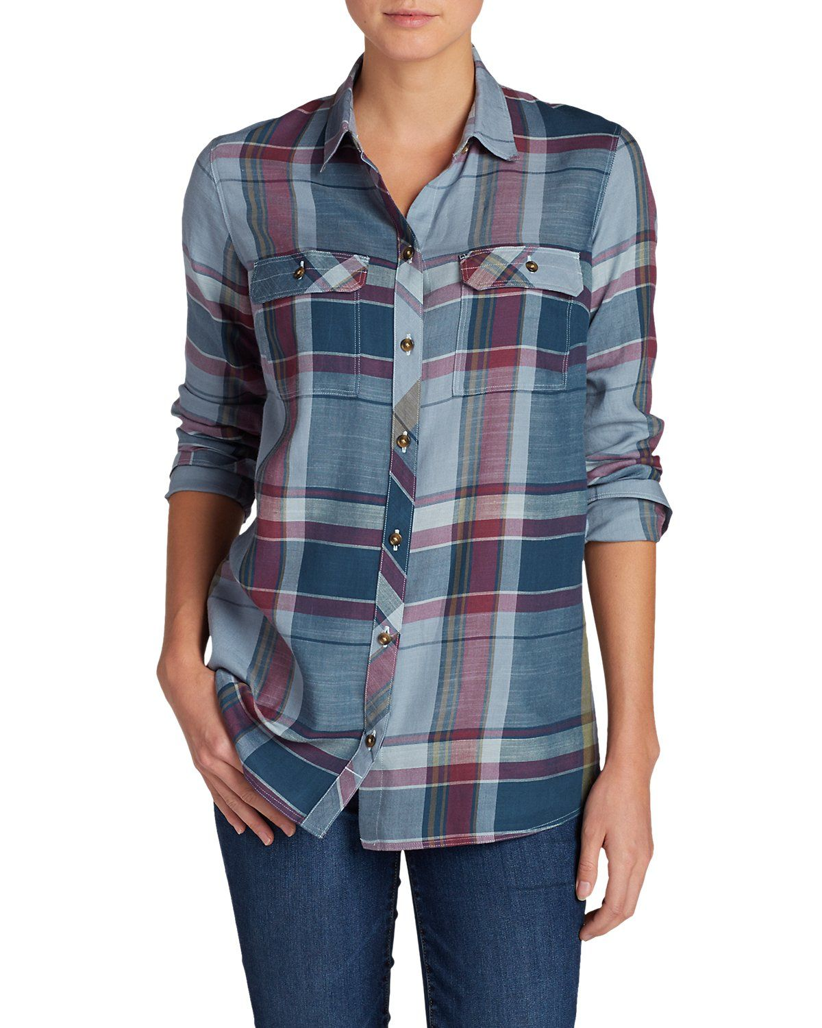 Women's Tranquil Long-sleeve Shirt - Pattern | Eddie Bauer