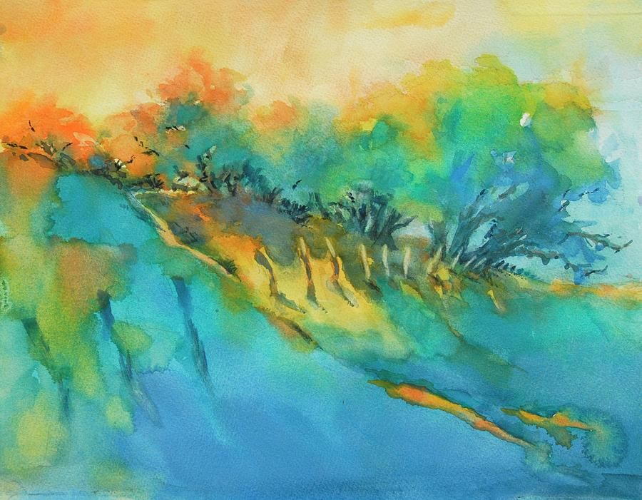 Hill Country Morning Breaks Painting by Virgil Carter