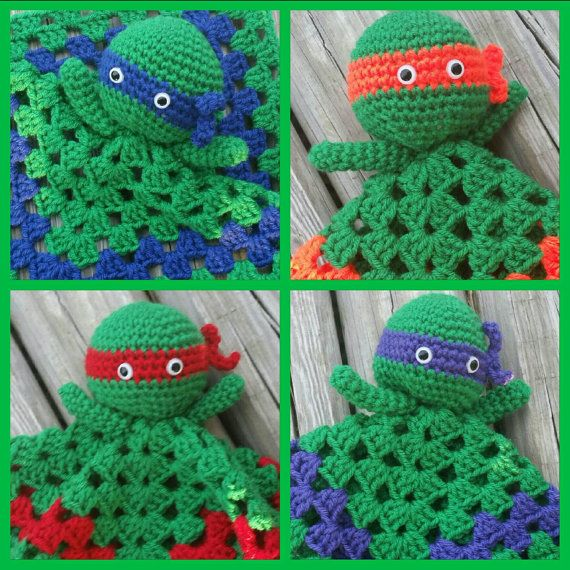 Teenage mutant Ninja Turtles häkeln Lovey von KrafternoonGifts2 ...