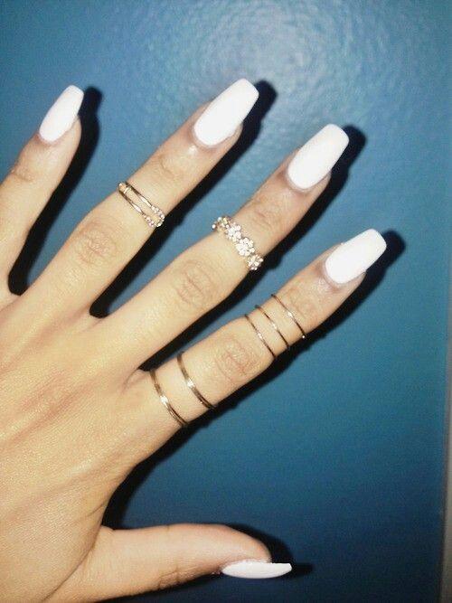 White Flat Top Nails Red Matte Nails Nails Hair And Nails