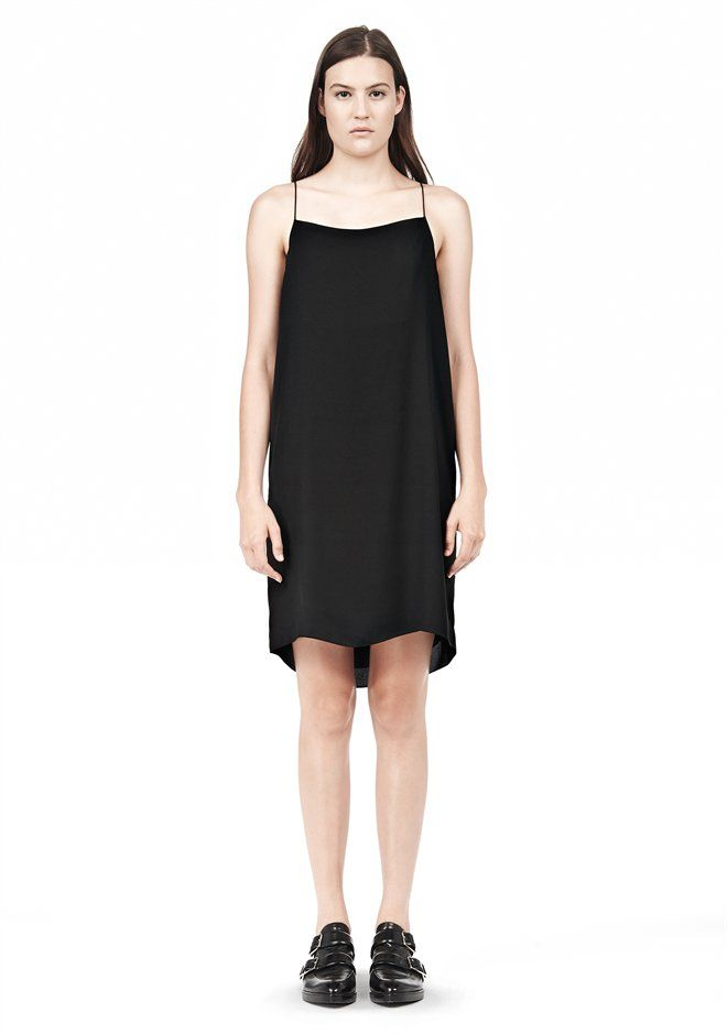 ba85f4b79deb3 Silk Square Neck Slip Dress | Little Black Dress | Dresses, Silk ...