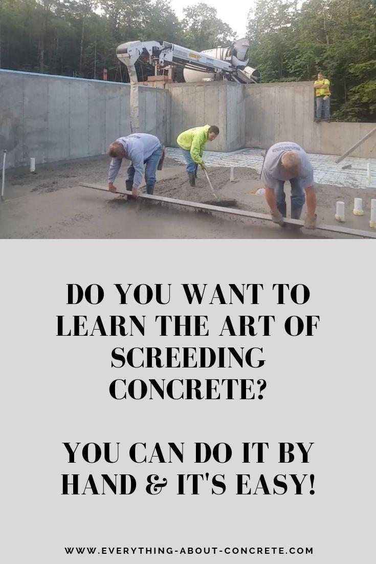 How to kick screed a concrete floor concrete floors