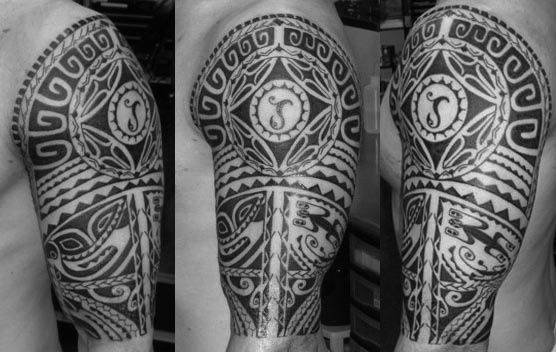 Polynesian half sleeve tattoo by aleks northeast tattoo for Twin city tattoo