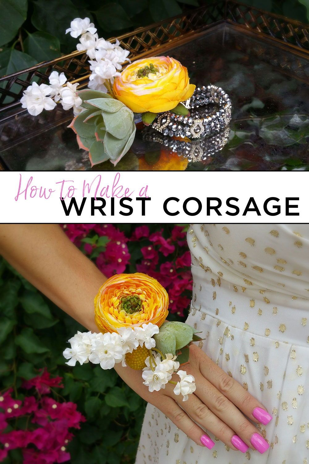 How To Make A Wrist Corsage Corsages Wrist Corsages Pinterest