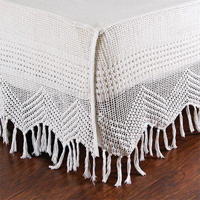 Pom Pom Crib Skirt