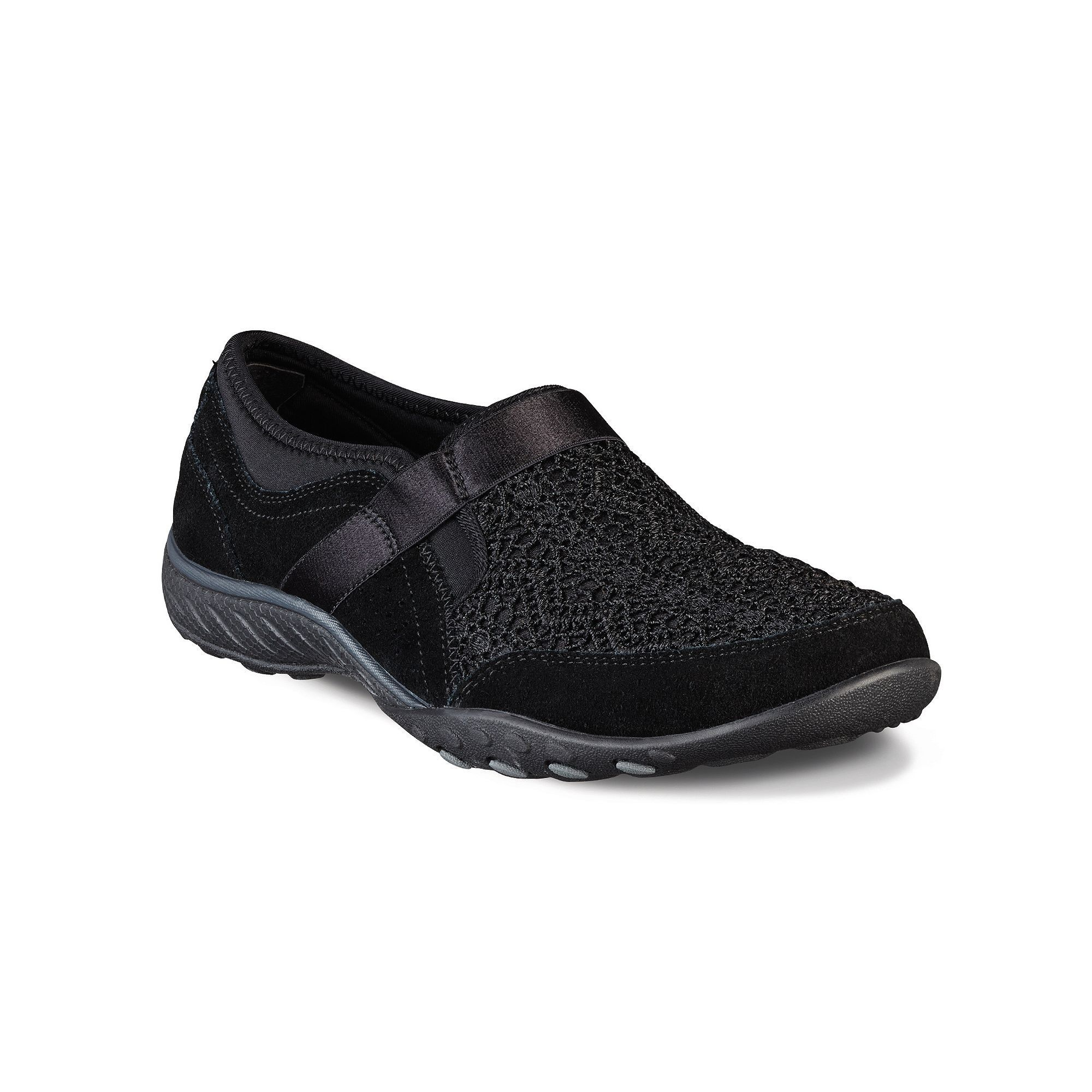 Unusual Skechers Relaxed Fit Breathe Easy Our Song Women's Slip-On Shoes Black