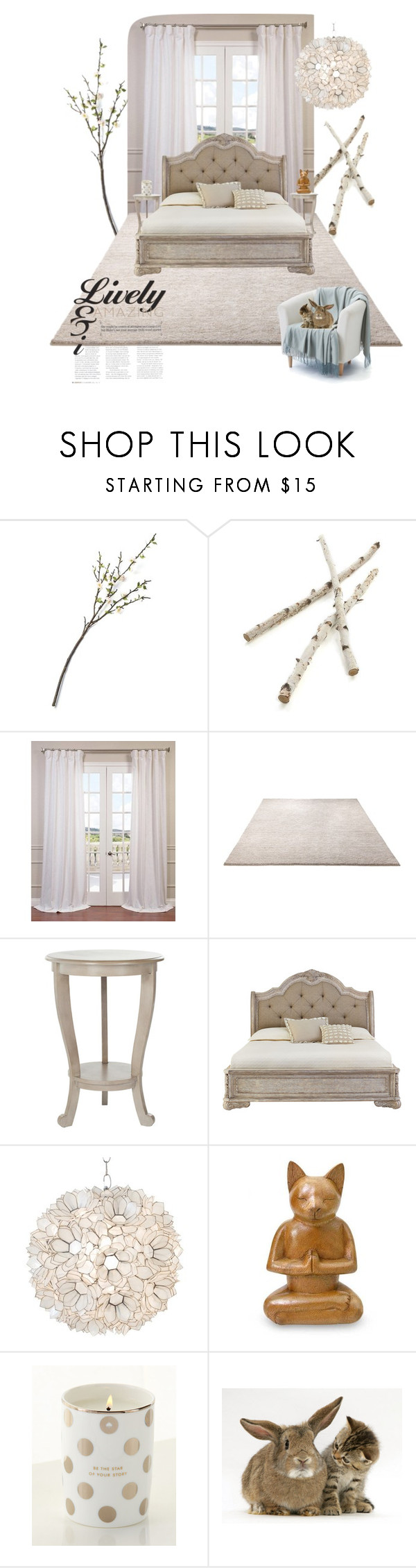 """""""Relaxing bedroom on the countryside"""" by katleen-f ❤ liked on Polyvore featuring interior, interiors, interior design, home, home decor, interior decorating, Crate and Barrel, ESPRIT, Safavieh and Worlds Away"""