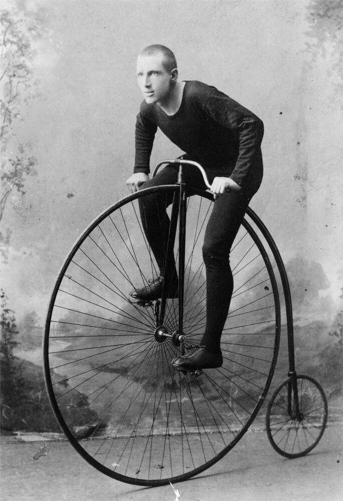 1891 Bicycle antique PHOTO, Bike, penny-farthing, Big ...