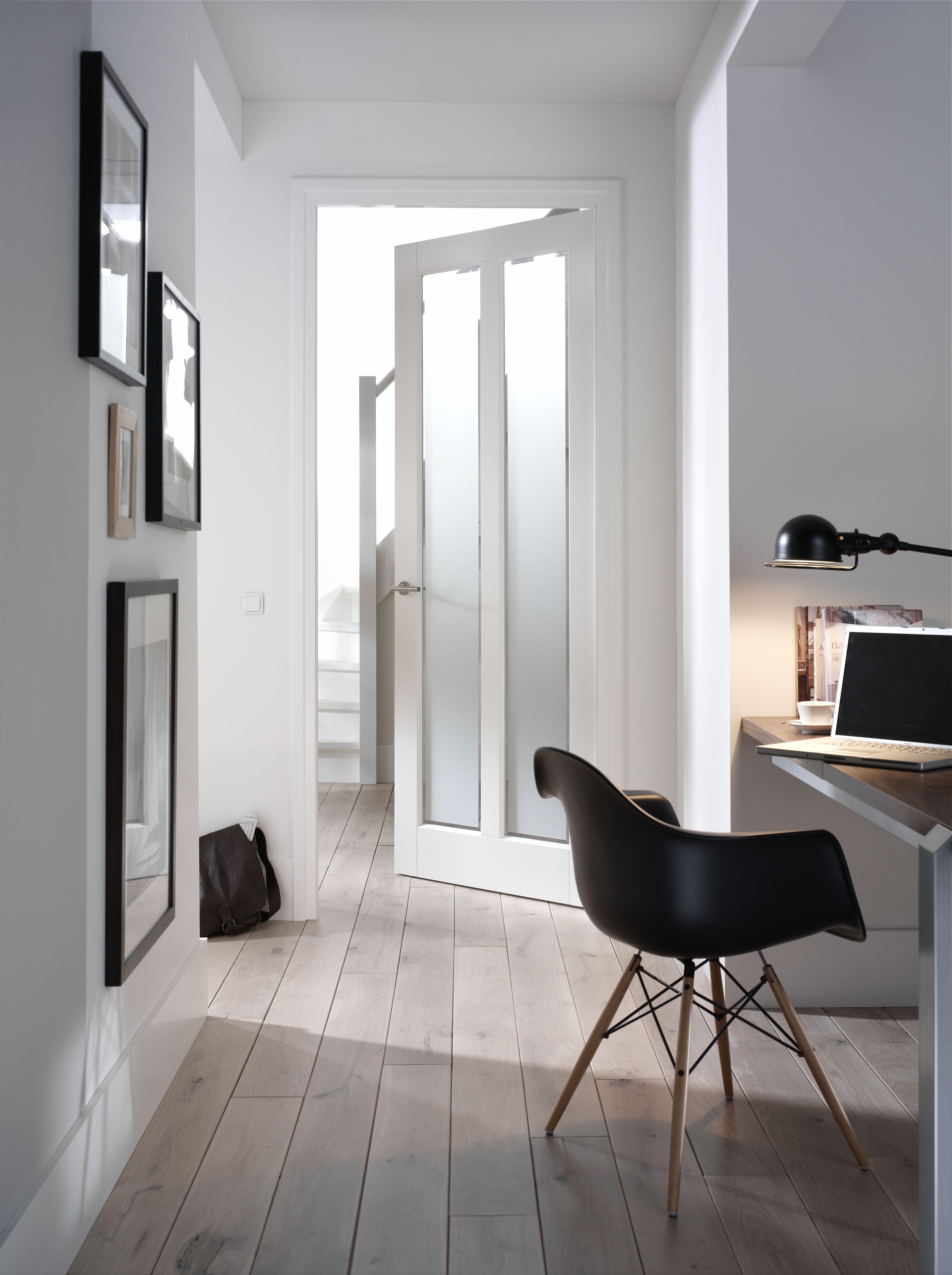 Moderne Binnendeur met mat glas | Gang | Pinterest