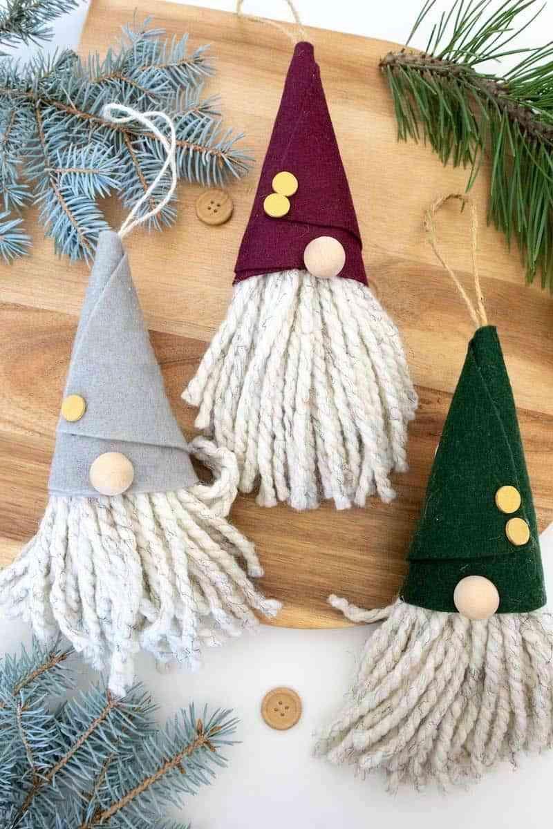 48+DIY No Sew Gnome Ornaments
