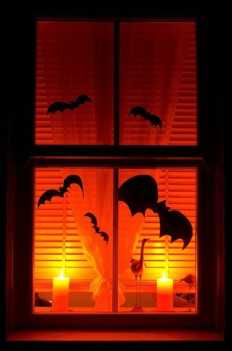 Halloween windows Halloween Pinterest
