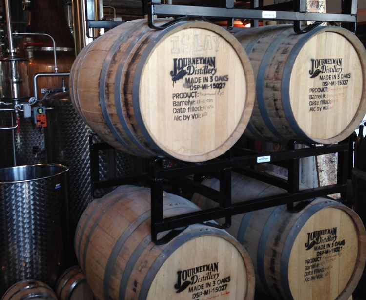 journeyman distilery barrels