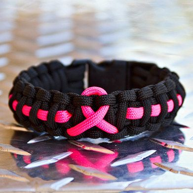 Pink Ribbon Inspirations By Renee Rough On Etsy Cancer Awareness Bracelet Paracord Bracelets Paracord