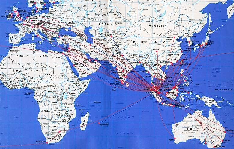 More airline route maps maps pinterest malaysia and travel posters more airline route maps publicscrutiny