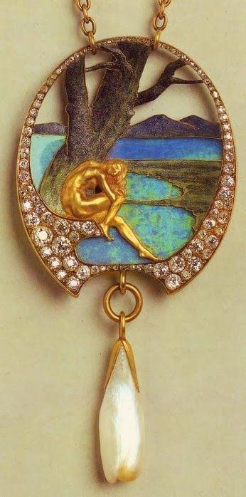 """""""Art Nouveau artists - Lalique Jewelry. Pendants"""" (quote)"""