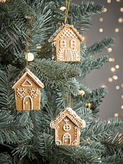 Christmas Tree Decorations Traditional Gold Silver Glass Baubles Uk In 2020 Christmas Tree Decorations Christmas Decorations Mini Gingerbread House