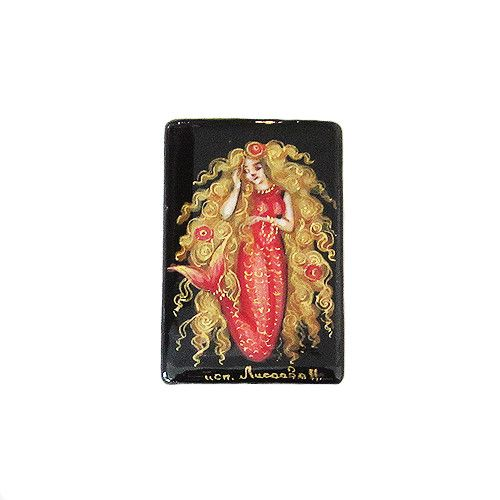 Russian Artist Hand-Painted Mermaid Miniature Bead