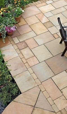 Indian Sandstone Paving Natural Stone Patio Flags Garden Slabs 19m2 Pack Pinterest Patios And