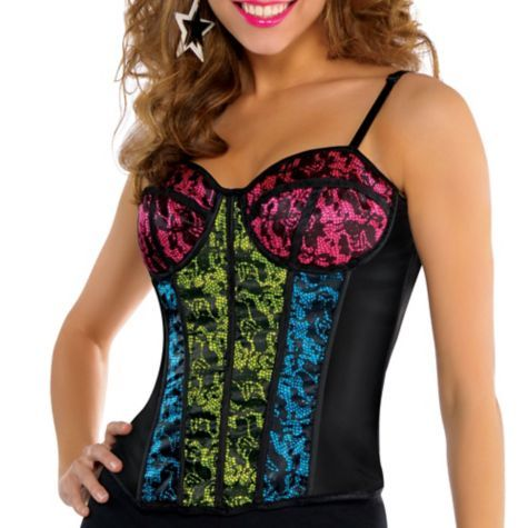 80s pop star corset  party city  party city party pop star