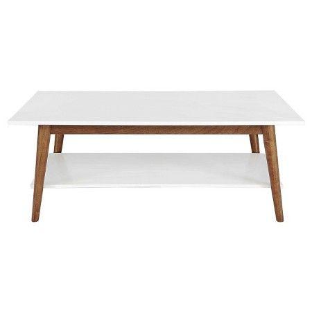 Wondrous Porter Mid Century Modern Two Tone Coffee Table White Brown Inzonedesignstudio Interior Chair Design Inzonedesignstudiocom
