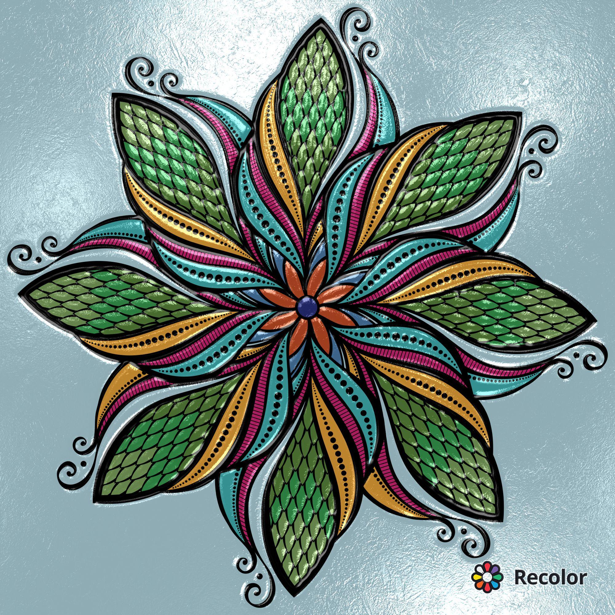 Recolor App RECOLOR RecolorApp Coloring Book