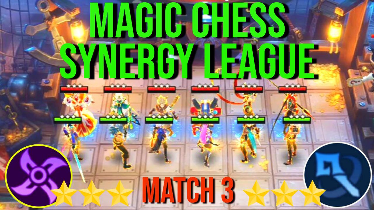 All 3 Star Assasin Vs All 3 Star Mage Magic Chess Synergy League Match 3