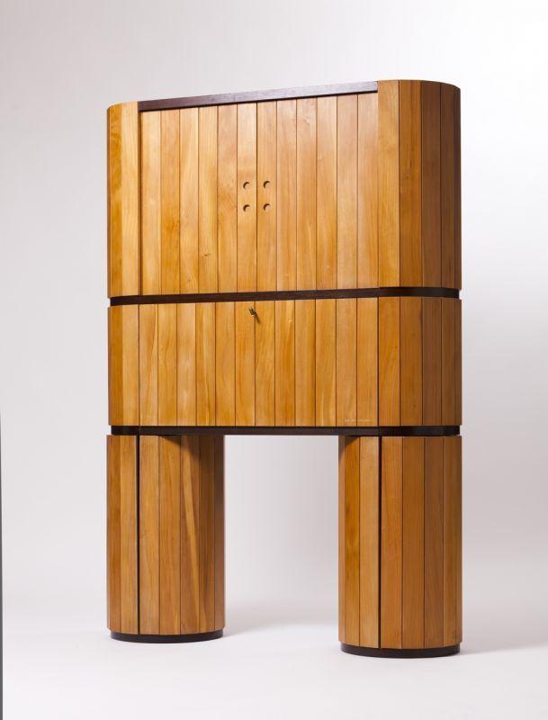 """Lot : Adolfo Natalini (Italy, b. 1941), """"Volumina"""" desk (1984) Sawaya"""