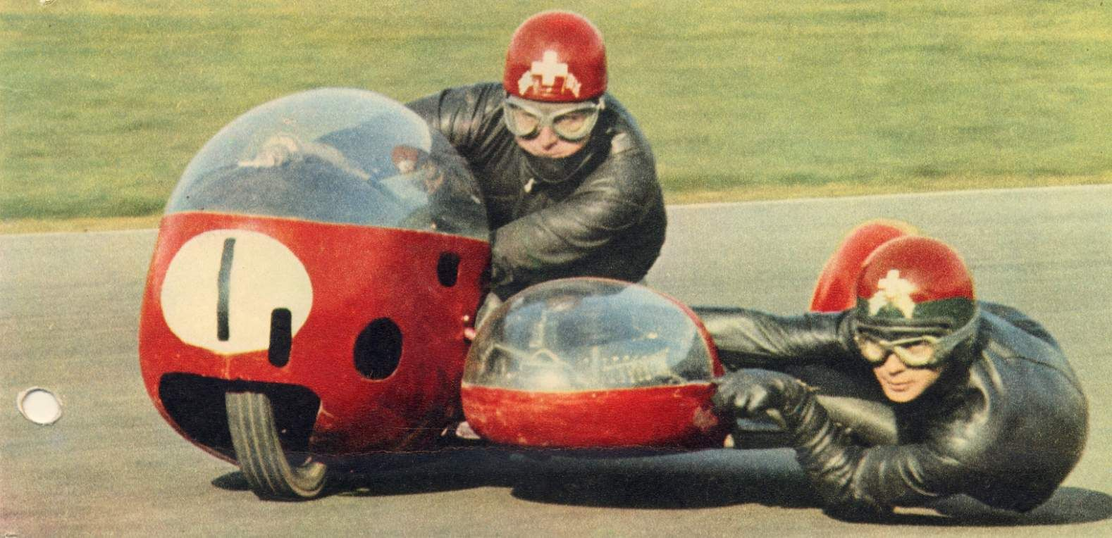 Fritz Scheidegger. - sidecar - 26 Mar 1967 Whilst in the lead at Mallory Park Fritz was killed instantly after crashing at the Hairpin.