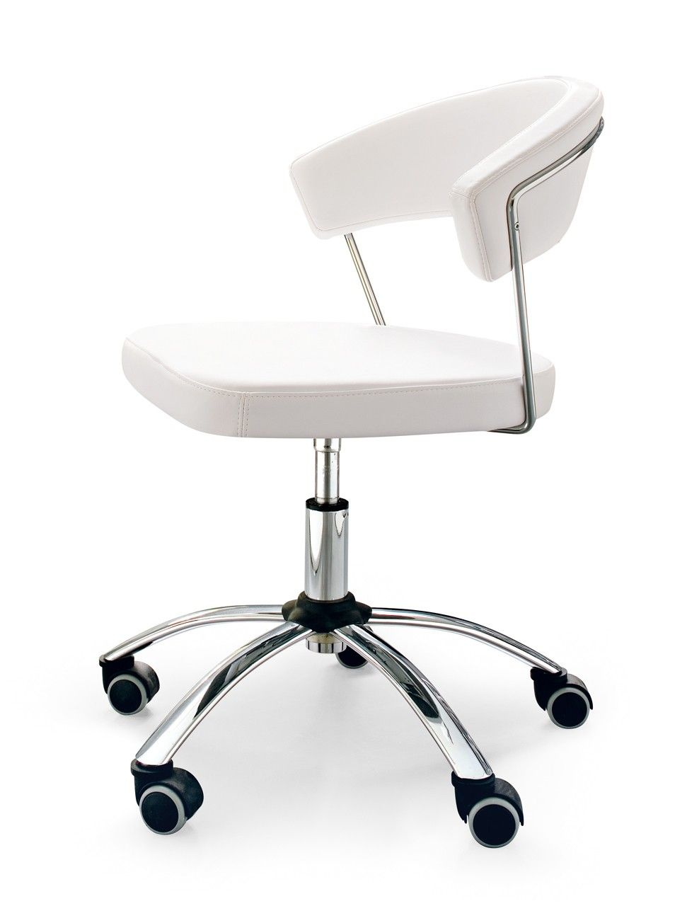 Connubia New York Swivel Chair With Leather Upholstered Seat