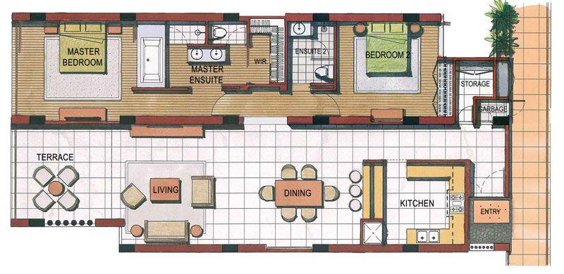 2 bedroom apartment floor plans - Αναζήτηση Google Freighter