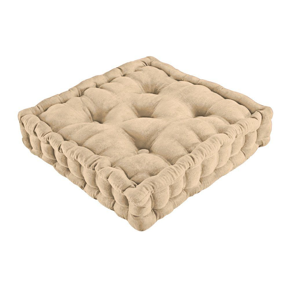 Tufted Support Padded Boosted Cushion, Natural
