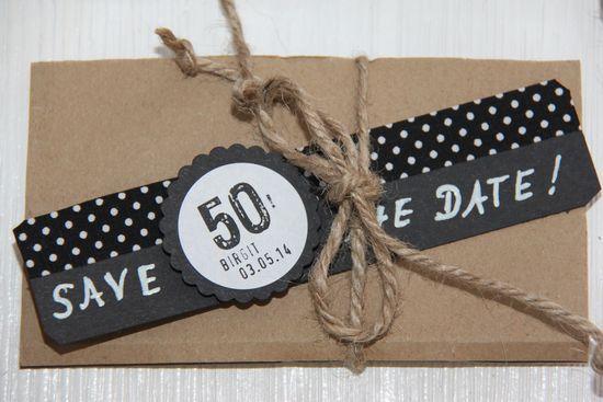Save The Date Zum 50 Geburtstag Mit Bildern Einladung