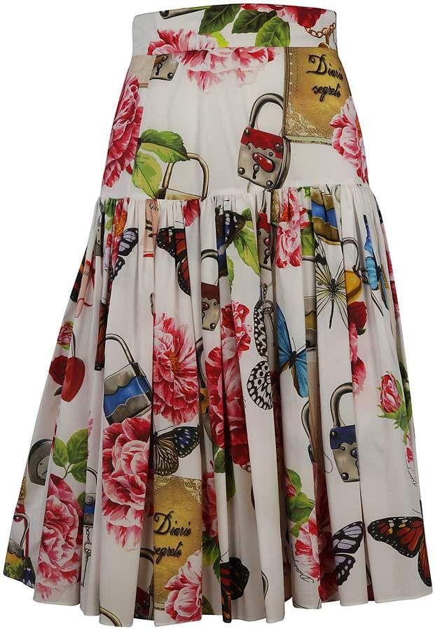 Dolce & Gabbana Dolce & Gabbana Printed Skirt – white – 10513293 | italist