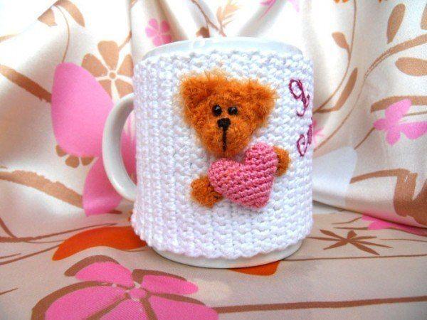 Delicadezas en crochet Gabriela: Funda en crochet para taza pasos esquemas
