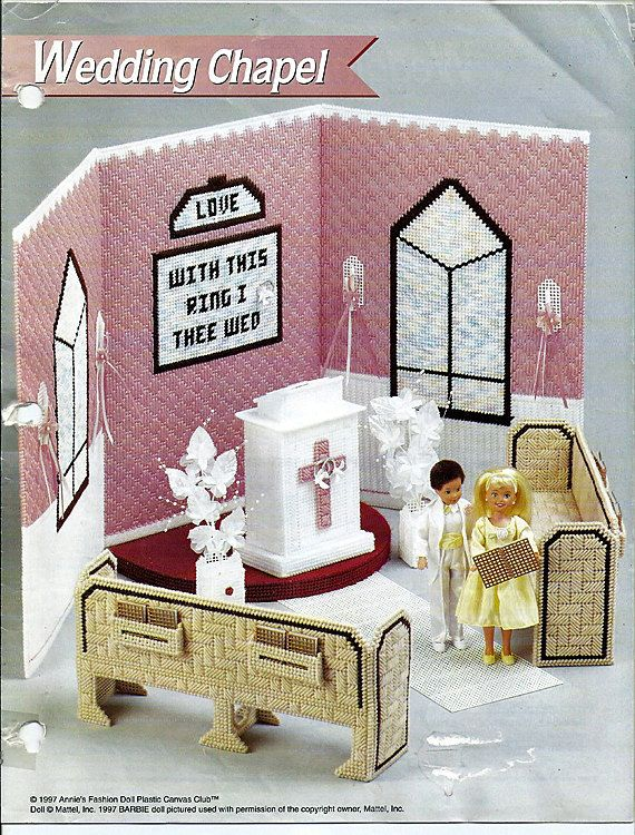 Wedding Chapel Annies Fashion Doll Plastic Canvas Club Furniture Pattern FP29 01 By Grammysyarngarden On