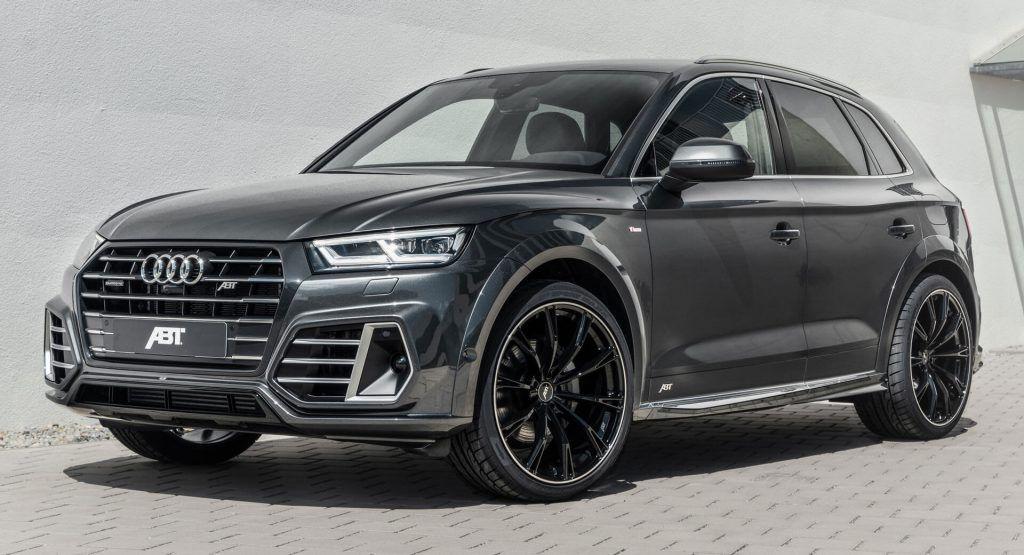 Audi Q5 Tfsi E Quattro Gets Abt Aero Kit Power Upgrade Carscoops In 2020 Audi Q5 Audi Black Wheels