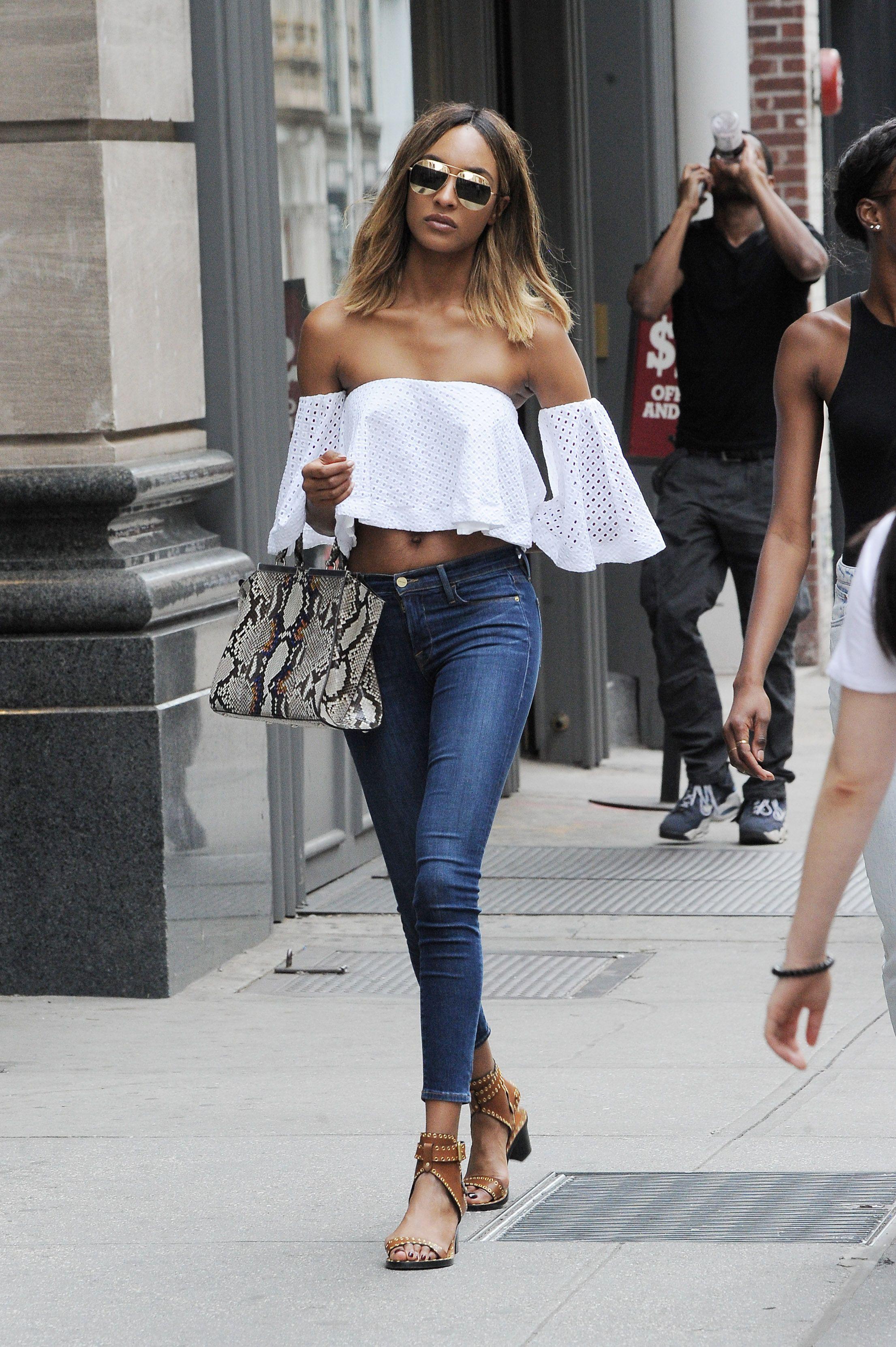 Jourdan Dunn Looks Ready For Summer In Her Blue Jeans